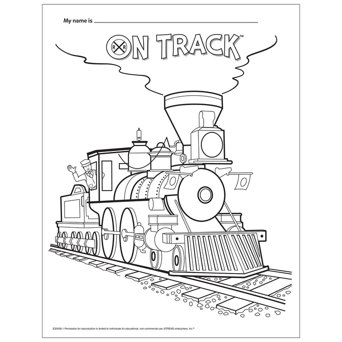Train Coloring Page Free Printable