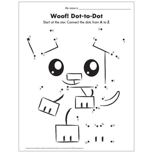 E54046 Woof A to Z Dot-to-Dot reproducible