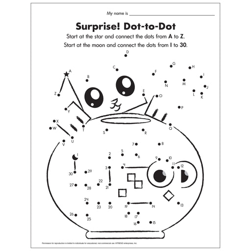 E54049 Surprise A-to-Z Dot-to-Dot Worksheet reproducible