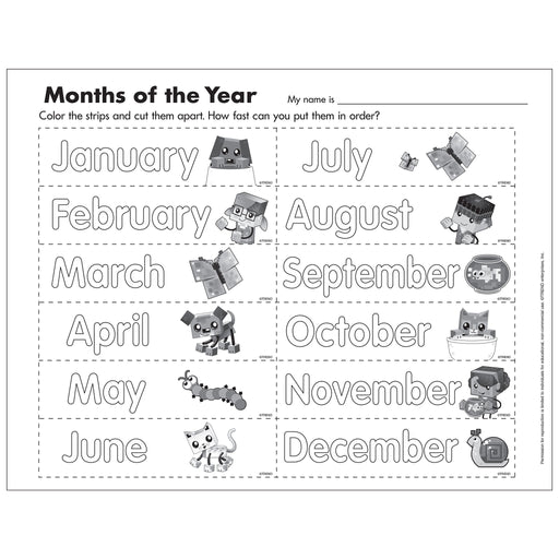 E54052 Months of the Year Activity reproducible