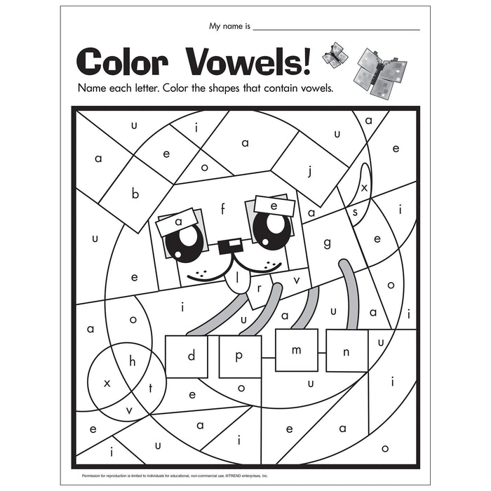 E54053 Color Vowels Activity reproducible