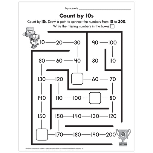 E54054 Count by 10s Worksheet reproducible