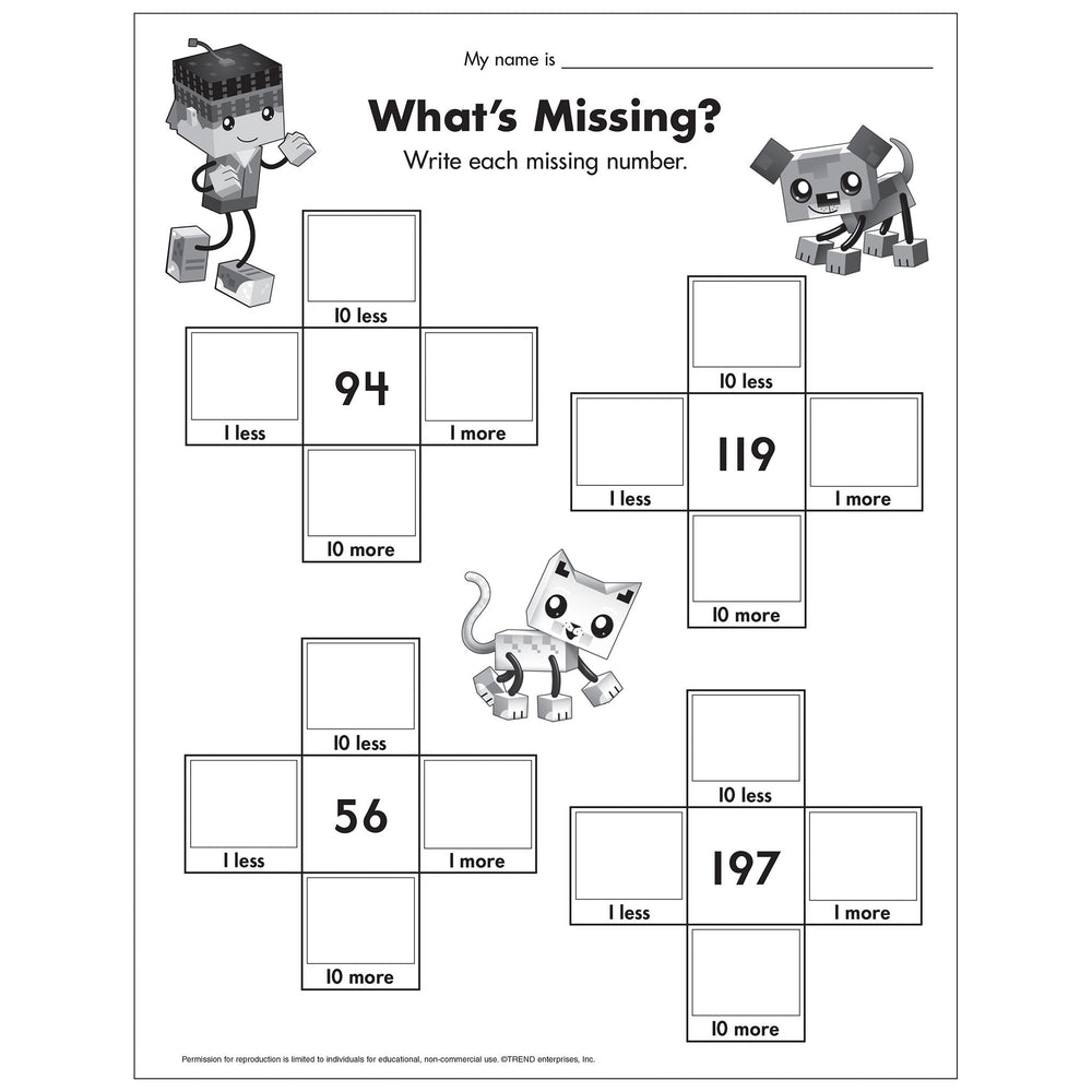 E54054 What's Missing Number Worksheet reproducible