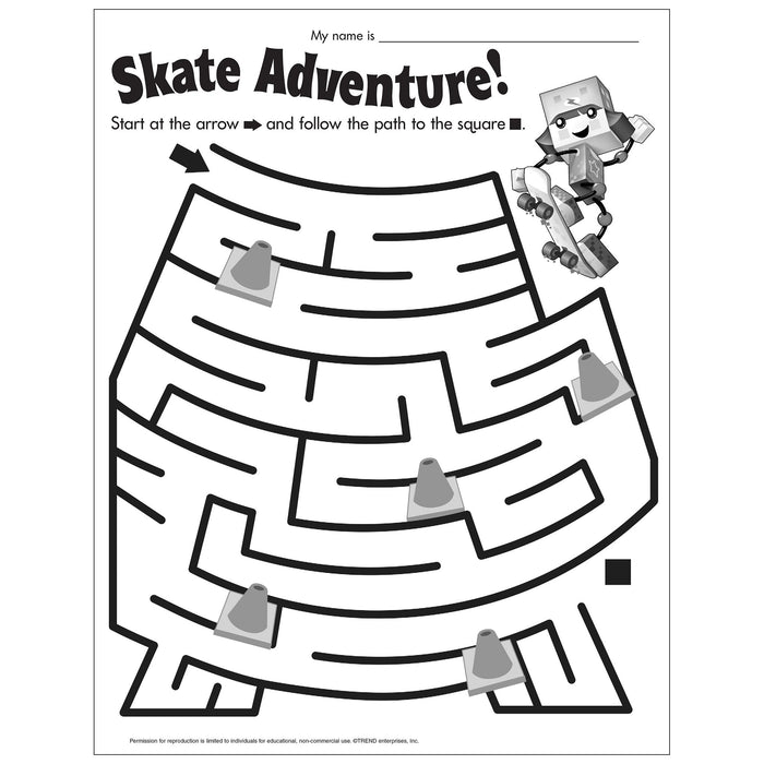 E54055 Skate Adventure Maze reproducible