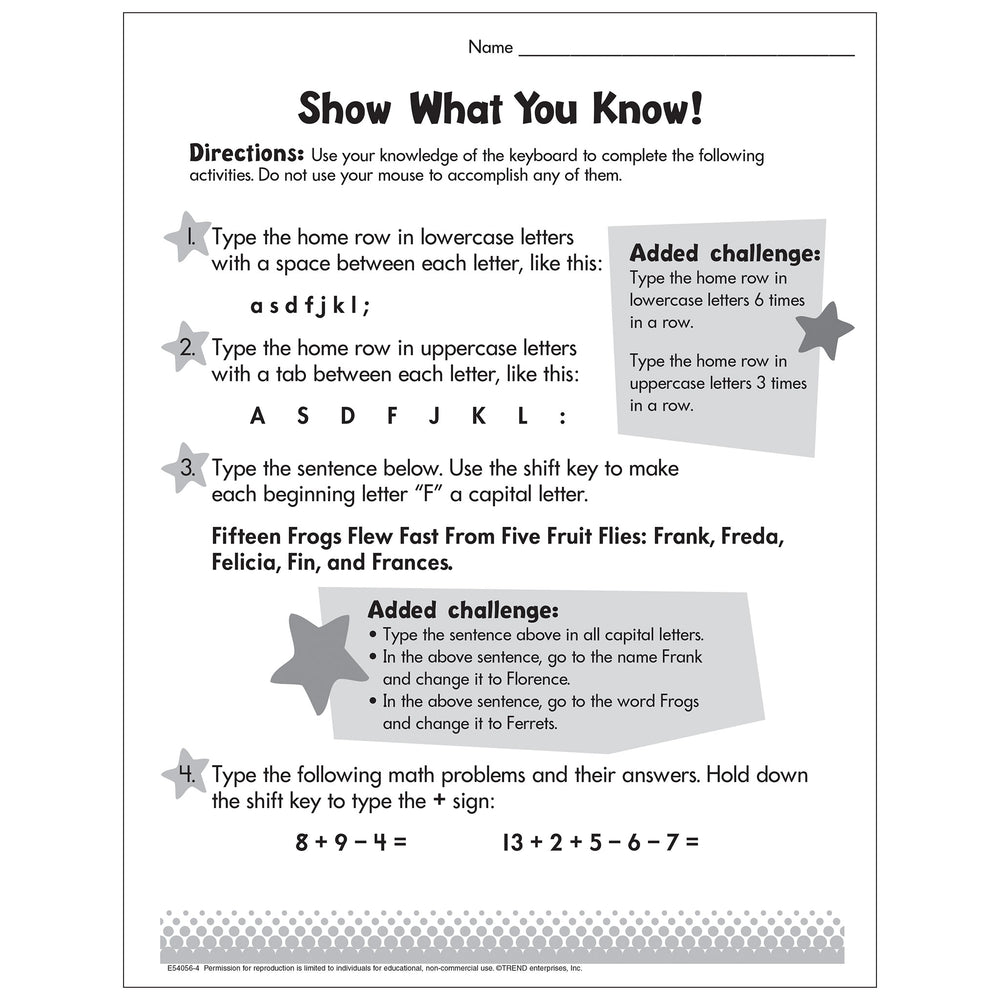 Show What You Know Worksheet Free Printable