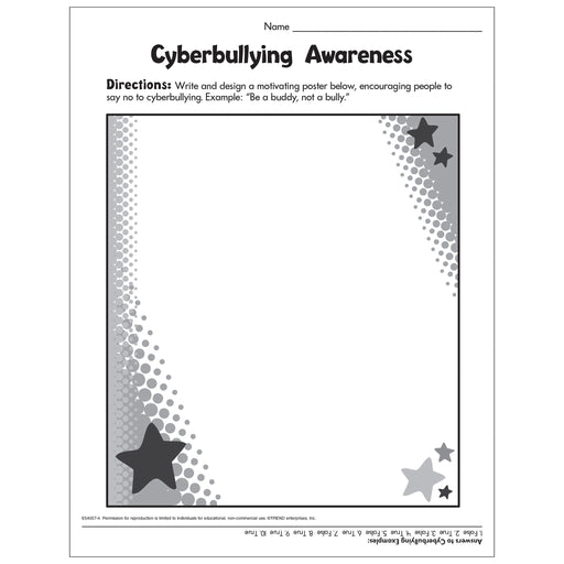 Cyberbullying Awareness Create-Your-Own Poster Free Printable