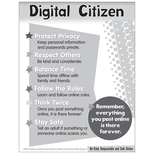 Digital Citizenship Chart - Primary Free Printable