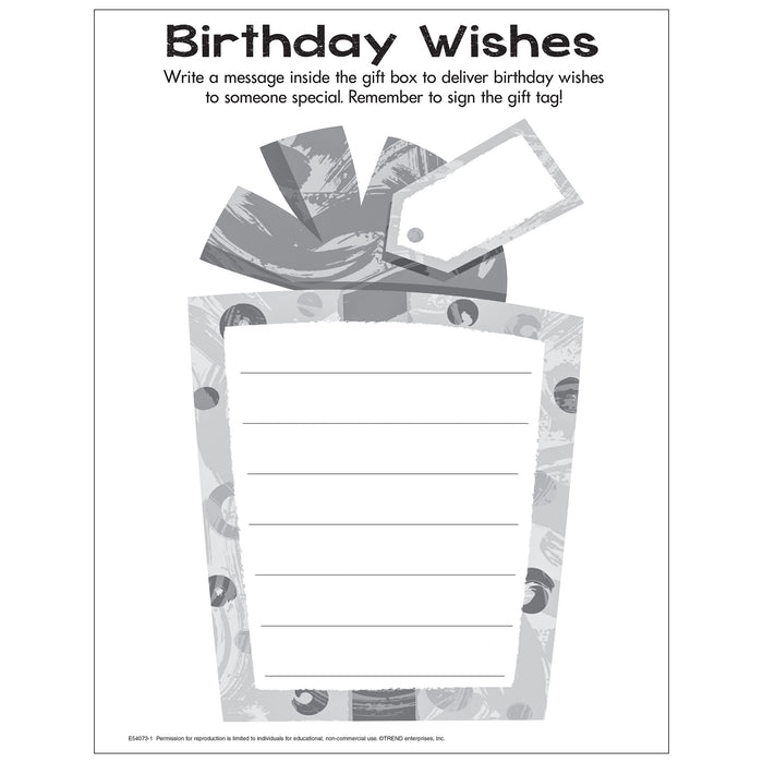Birthday Wishes Free Printable