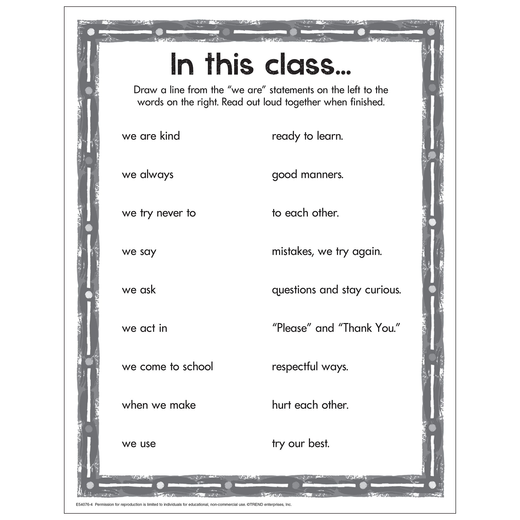 In this class...we are kind Free Printable