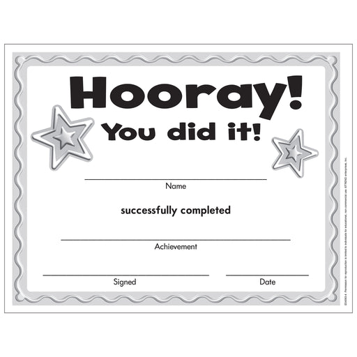 Hooray Certificate Free Printable