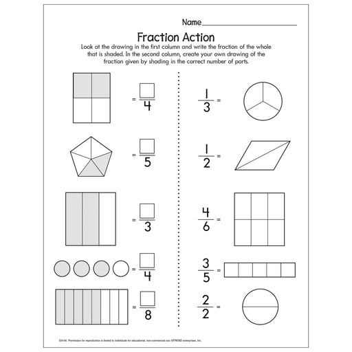 Fraction Action Free Printable