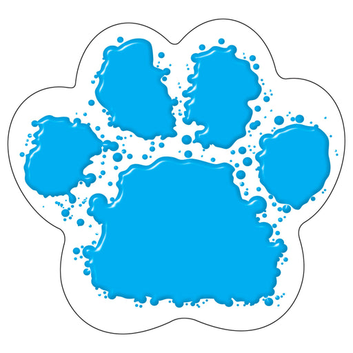 T10085 Accent Blue Paw Print