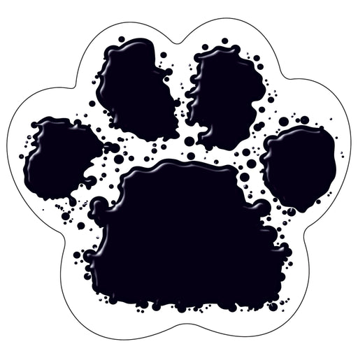 T10089 Accent Black Paw Print