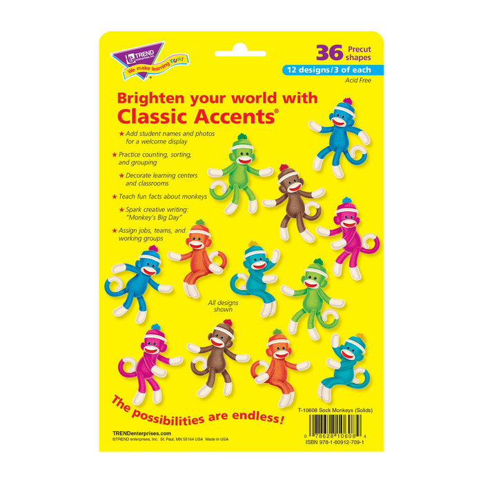 T10608 Accent Sock Monkey Package Back