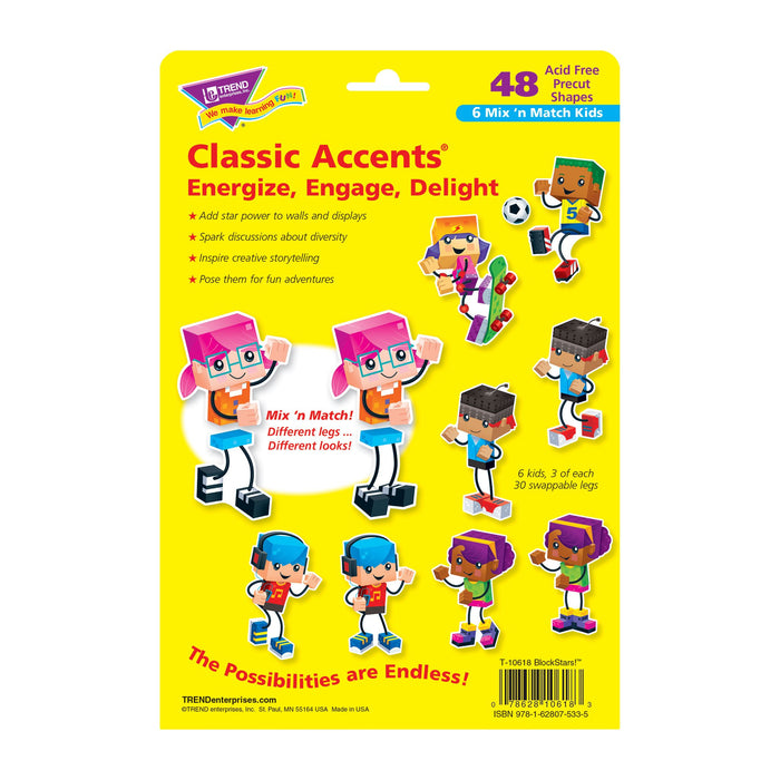 T10618 Accent Block Star Kids Package Back