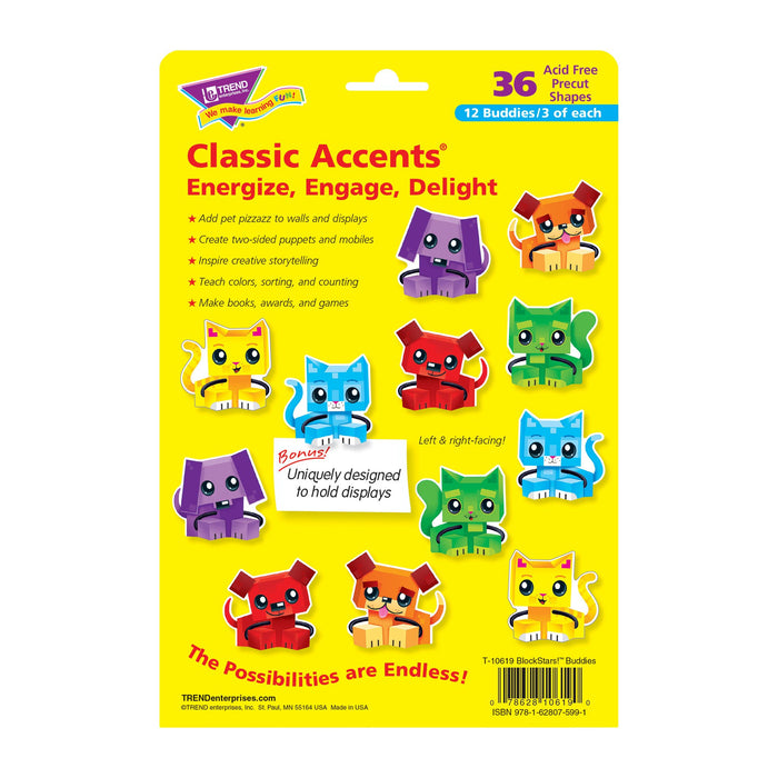 T10619 Accent Block Star Dog Cat Package Back