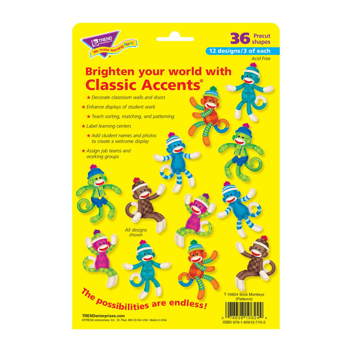 T10624 Accent Sock Monkey Package Back
