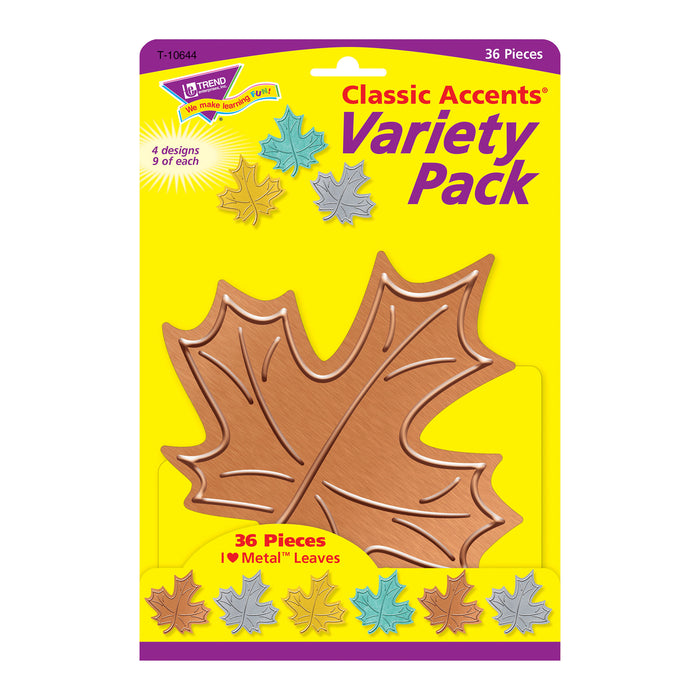 I ♥ Metal™ Leaves Classic Accents® Variety Pack