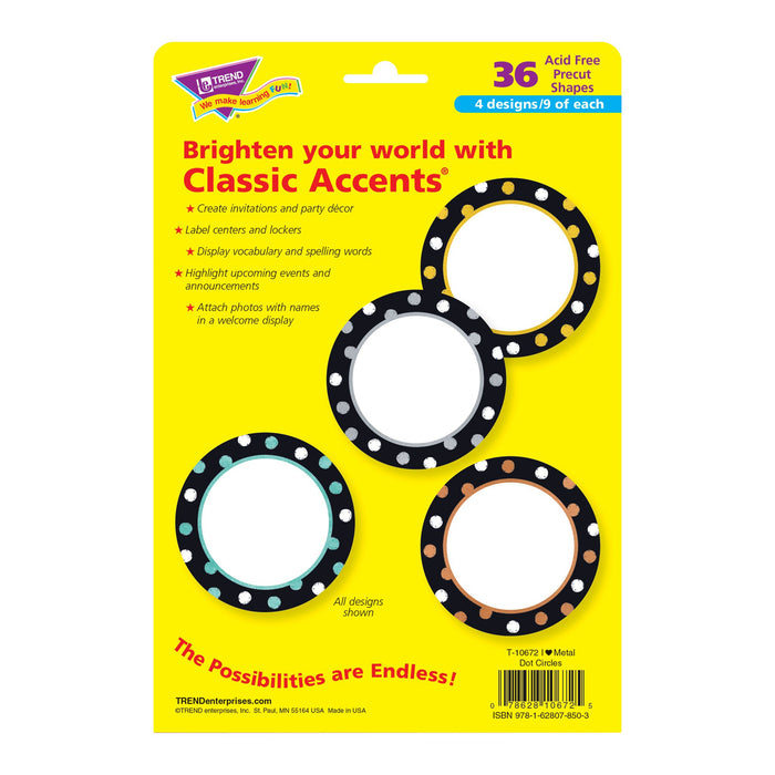 T10672 Accent Metal Dot Circles Package Back