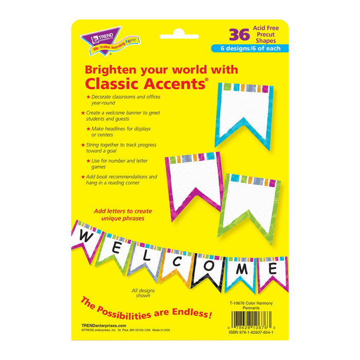 T10676 Accent Harmony Pennants Package Back