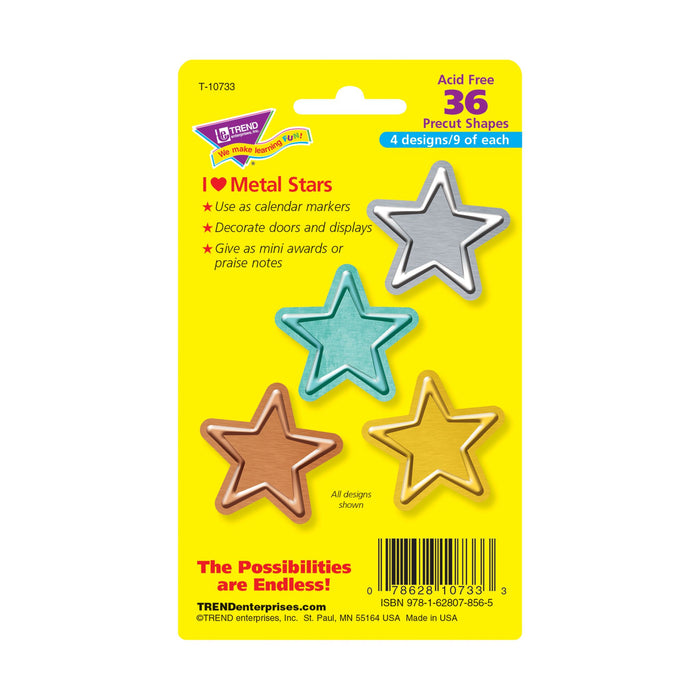 T10733 Accent Metal Stars Package Back