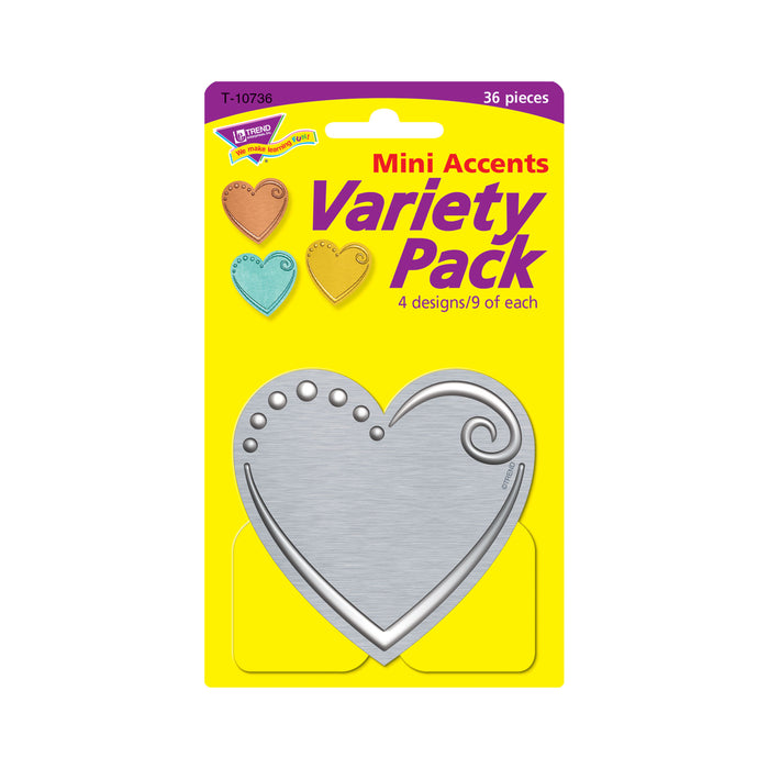 I ♥ Metal™ Hearts Mini Accents Variety Pack