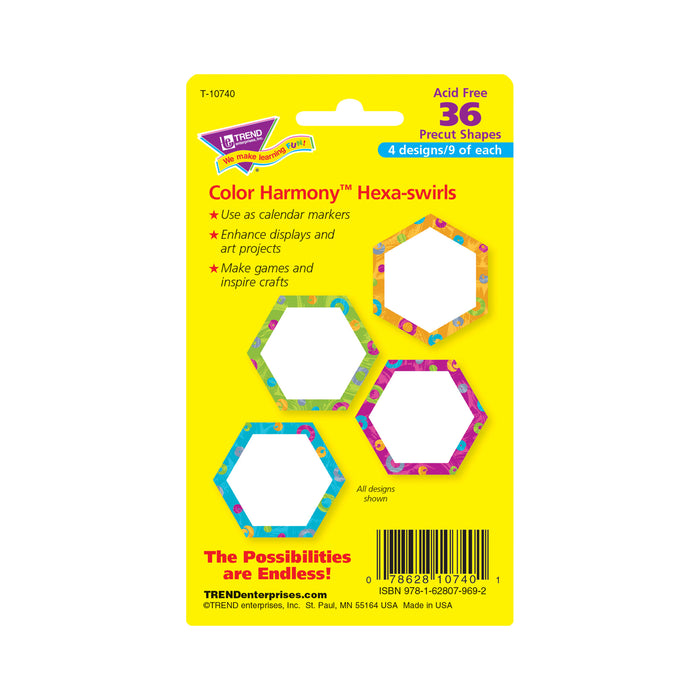 Color Harmony™ Hexa-swirls Mini Accents Variety Pack