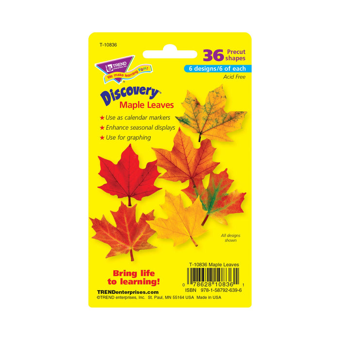 T10836 Accent Fall Maple Leaves Package Back