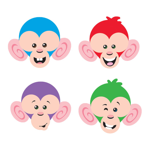 T10877 Accent Monkey Mischief Friendly Faces