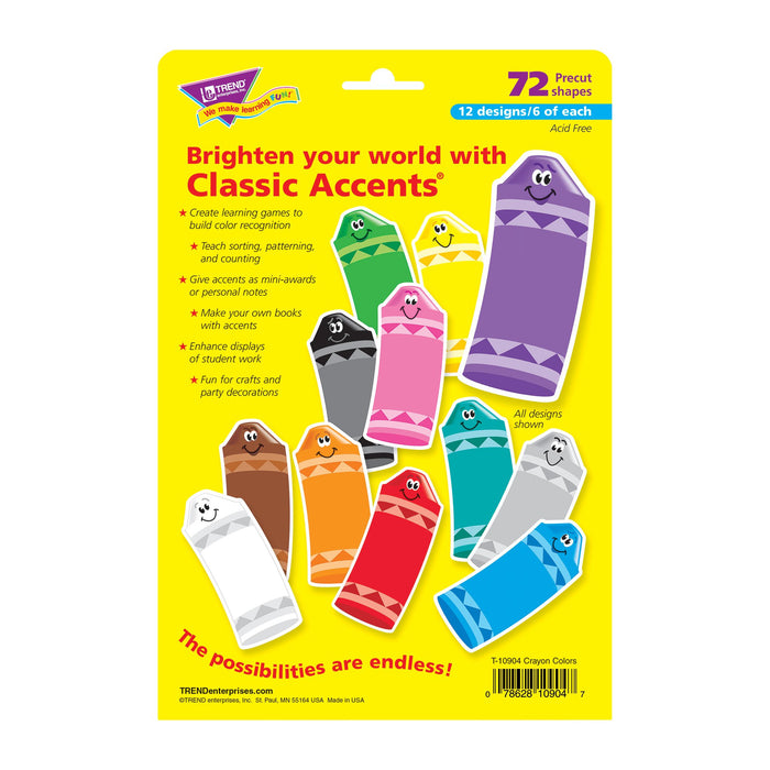 T10904 Accent Primary Color Crayon Package Back