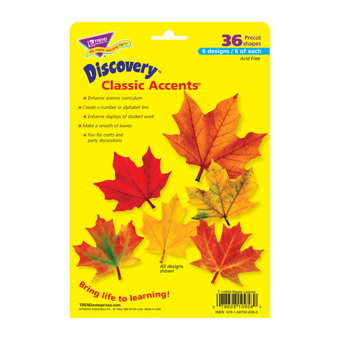 T10958 Accent Fall Maple Leaves Package Back