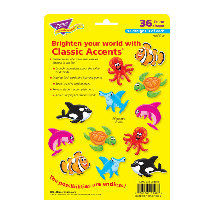 T10998 Accent Sea Life Characters Package Back