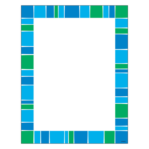 T11427 Computer Paper Stripe Cool Blue