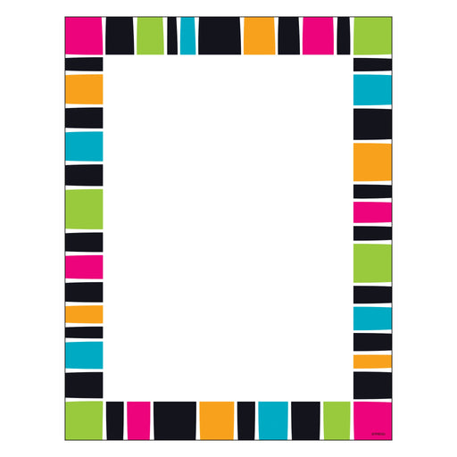 T11428 Computer Paper Stripe Groovy