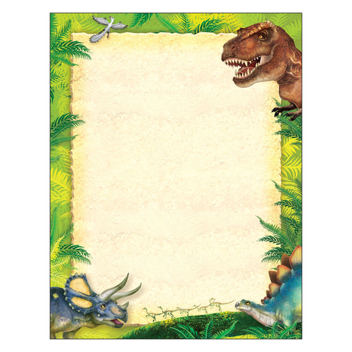 T11455 Computer Paper Realistic Dinosaurs