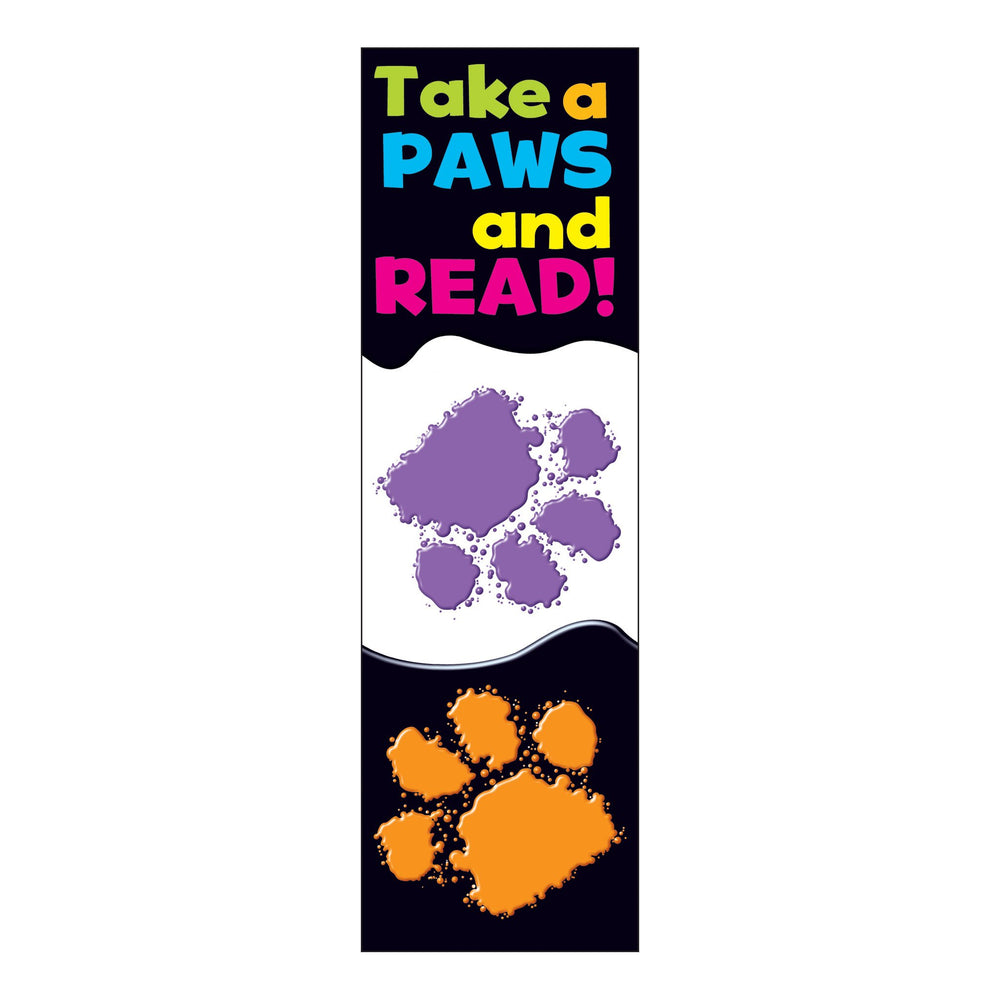 T12034 Bookmark Read Paw Print