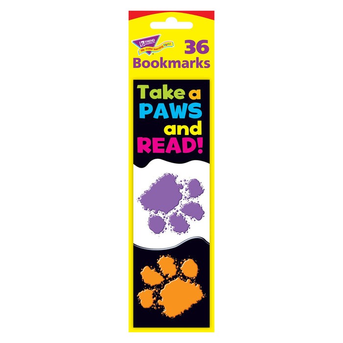 T12034 Bookmark Read Paw Print Package