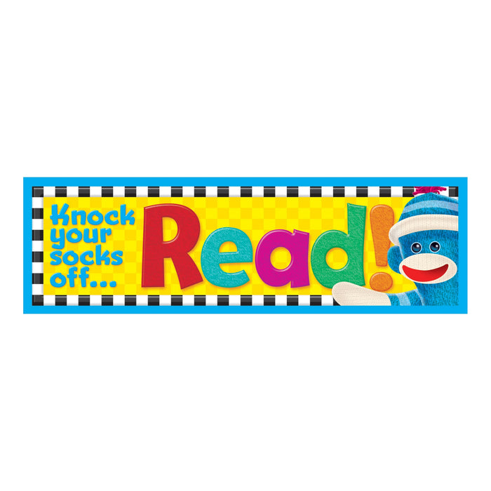 T12039 Bookmark Sock Monkey Read