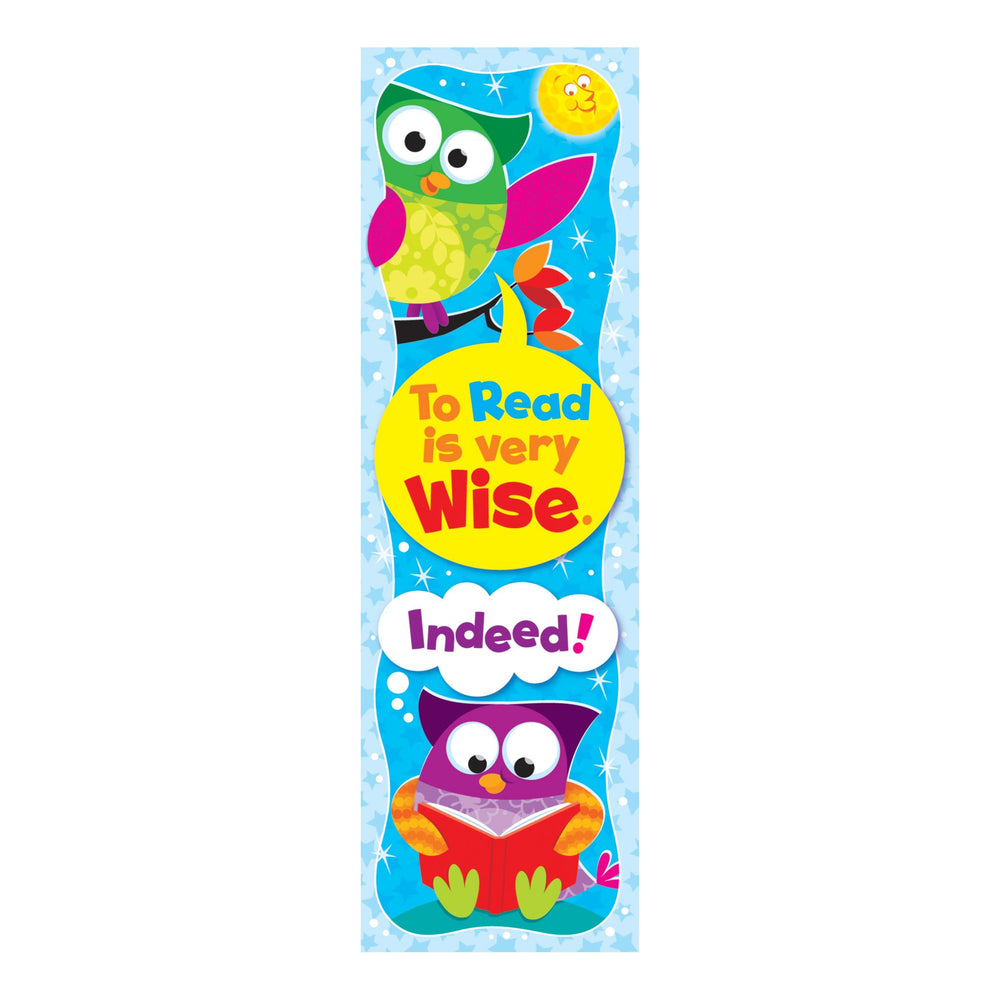 T12110 Bookmark Read Wise Owl Stars