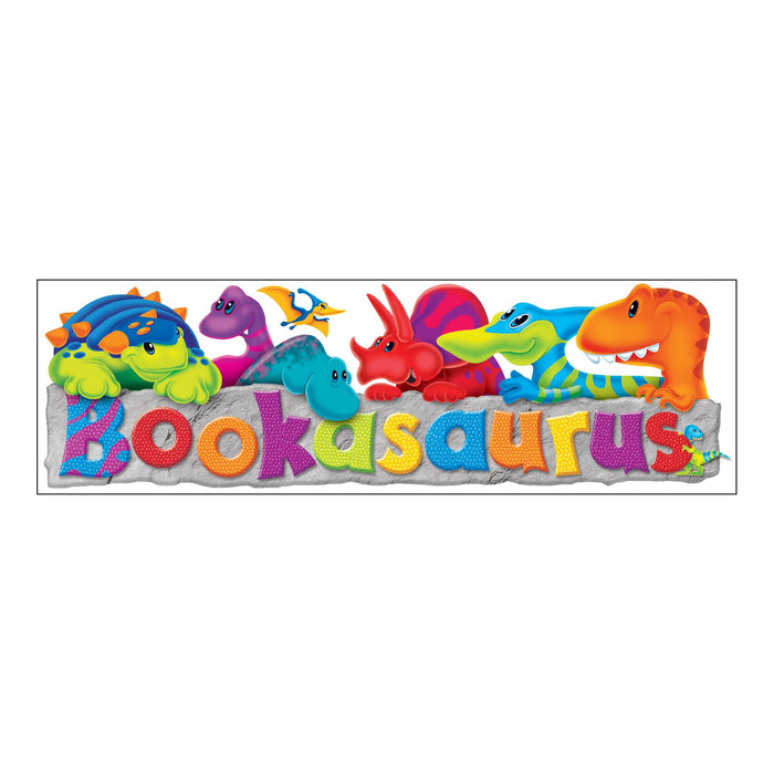 T12115 Bookmark Dinosaur Bookasaurus