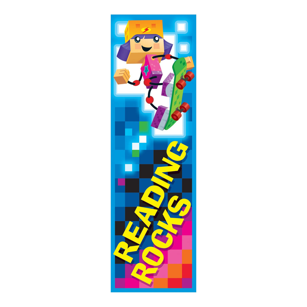 T12125 Bookmark Block Star Kids Reading Rocks