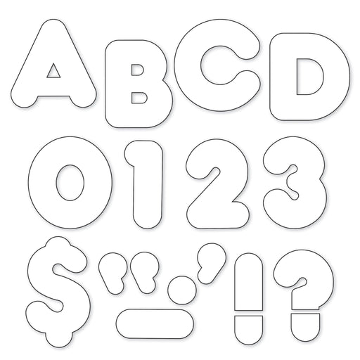 T1567 Letters 4 Inch Casual White