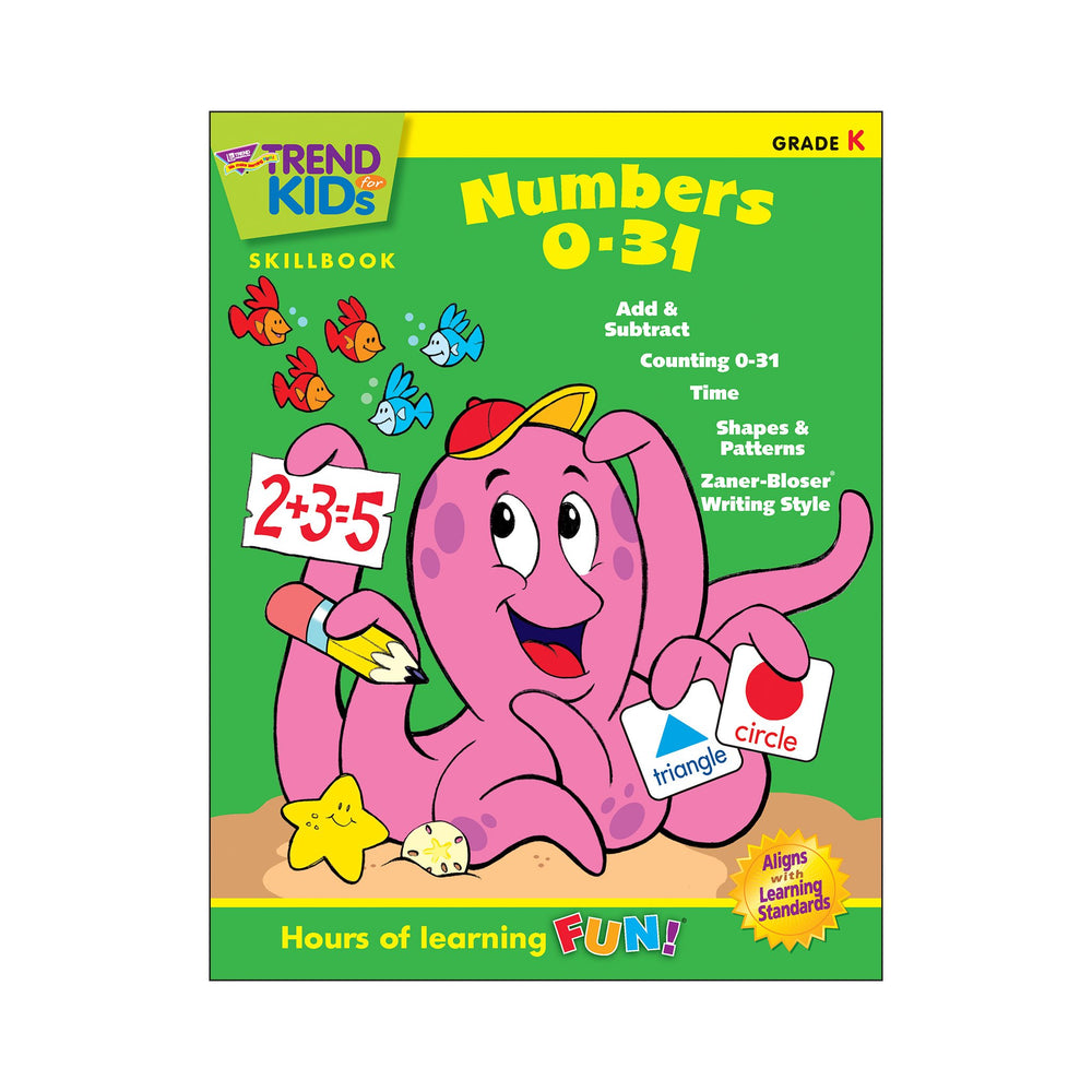 T16004 Skillbook Kindergarten Numbers 0 31