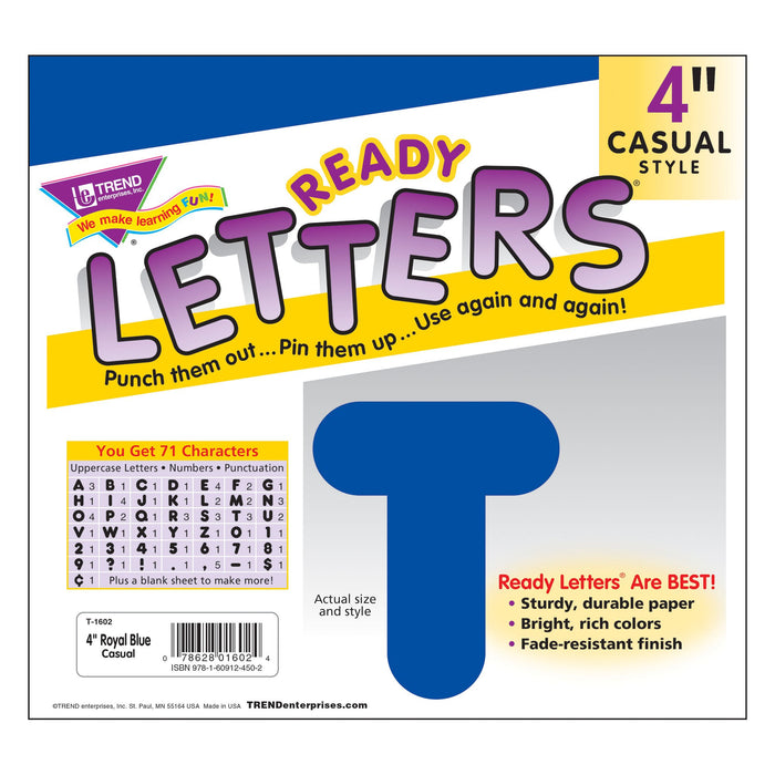 T1602 Letters 4 Inch Casual Royal Blue Package