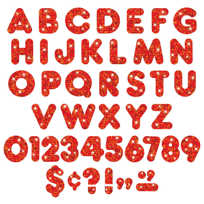 T1614 Letters 4 Inch Casual Red Sparkle Alphabet