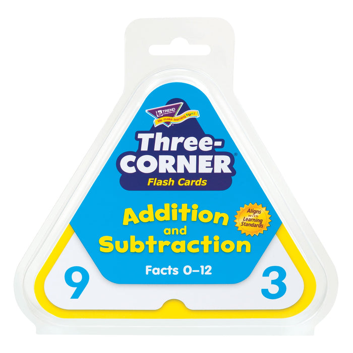 T1670 Flash Cards Three Corner Addition Subtraction Package
