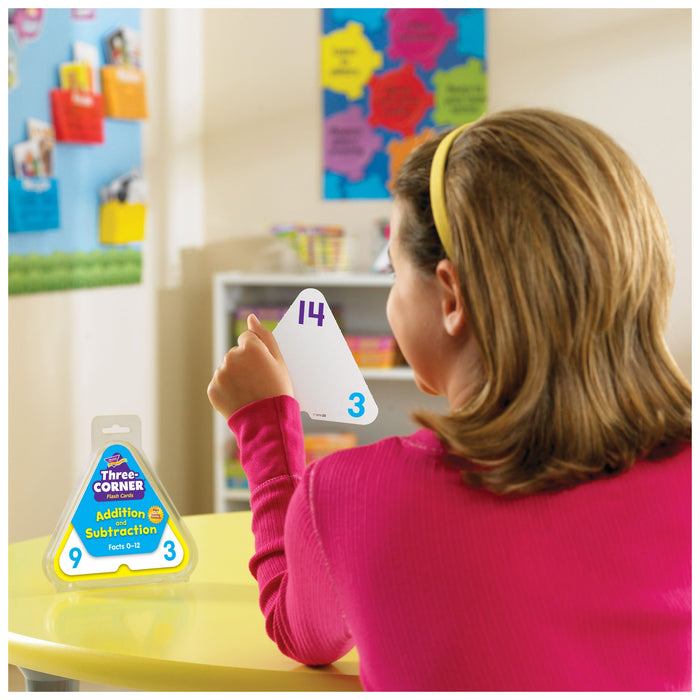 T1670 Flash Cards Three Corner Addition Subtraction Classroom