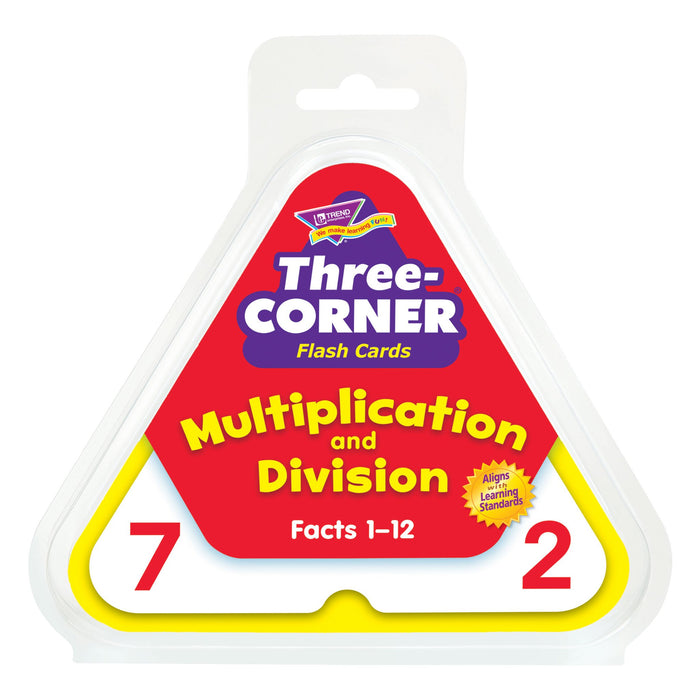 T1671 Flash Cards Three Corner Multiplication Division Package