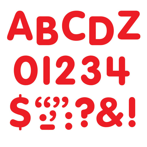 T1780 Letters inch Red