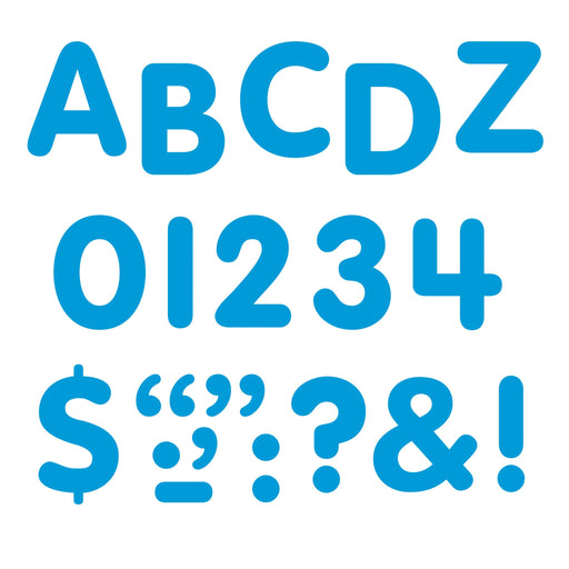 T1781 Letters inch Blue